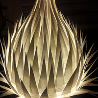White paper table lamp - Paper Lamp