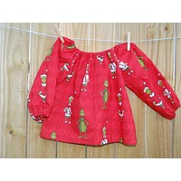 Grinch Peasant Top or Dress