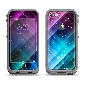 The Neon Glow Paint Apple iPhone 5c LifeProof Fre Case Skin Set