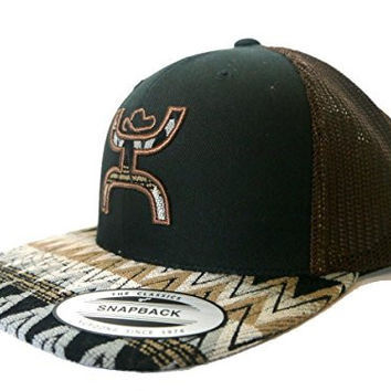 Hooey Hat - 'Tut' Aztec Print Trucker Hat - Black/Brown