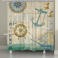 Mariner Sentiment Shower Curtain