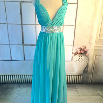 Chiffon bridesmaid dress, long bridesmaid dresses,  Prom dress ,
