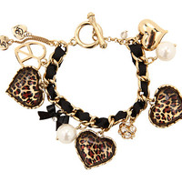 Betsey Johnson Toggle Leopard Bracelet