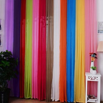 "Hot Valances Colors Floral Tulle Voile Door Window Curtain 1M 39.4'' Width x 2M 78.8"" Length"