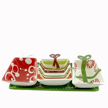 Tabletop Under The Tree Condiment Set Christmas Tabletop