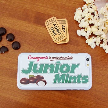 Junior Mints Candy, Custom Phone Case for iPhone 4/4s, 5/5s, 6/6s+ and iPod Touch 5