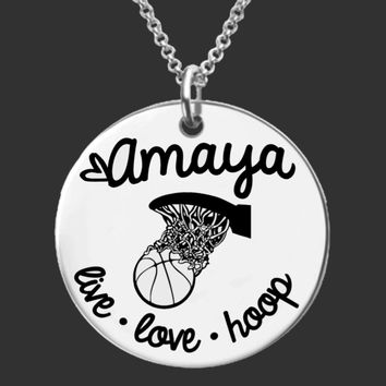 Basketball Player Personalized Necklace