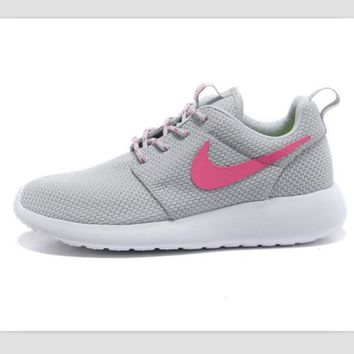 NIKE fashion network sports shoes casual shoes Light gray pink