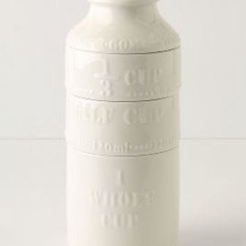 Milk Bottle Measuring Cups by Anthropologie in Multi Size: One Size Glassware