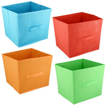 "Bulk Essentials ""Summer Fun"" Collapsible Storage Containers, 11""H at DollarTree.com"
