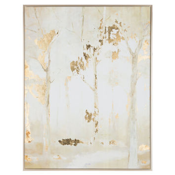 Frosted Forest Trees Framed Canvas Wall Art | Hobby Lobby | 1310077