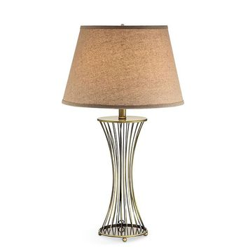 XIA Contemporary Sands Table Lamp, Gold, Set of 2