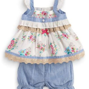 2017 summer style baby girl dress baby girl clothes Newborn Baby Girls Dresses Cotton Floral Dress Girls clothes set
