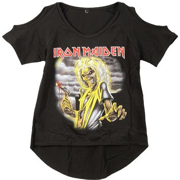 Iron Maiden Women's  Killers Girls Jr Fashion Top Black