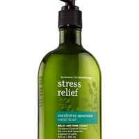 Bath & Body Works AROMATHERAPY Stress Relief EUCALYPTUS SPEARMINT Hand Soap 8 oz