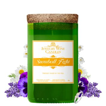 Snowball Fight | Jewelry Wine Candle®