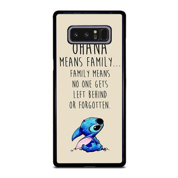 STITCH LILLO OHANA FAMILY QUOTES Samsung Galaxy Note 8 Case Cover