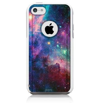 iPhone 5c Case [White] Galaxy Nebula [Dual Layer] UnnitoTM *1 Year Warranty* Case Protective [Custom] Commuter Protection Cover [Hybrid]