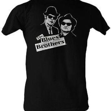 Blues Brothers Jake and Elwood BW Movie Cotton Adult S-2XL T Shirt