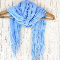 Handwoven infinity scarf,  Blue Scarves, Natural,Organic Scarf, Fashion accessories, Women Scarves