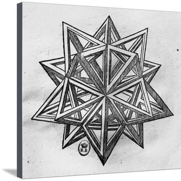 "Dodecahedron, from ""De Divina Proportione"" by Luca Pacioli, Published 1509, Venice Giclee Print by Leonardo da Vinci at Art.com"