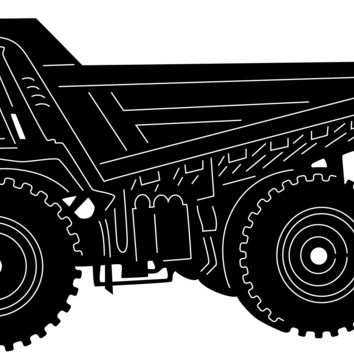 Dumping Truck Heavy Duty Construction Machinery Free DXF file