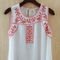 Bohemian Weekend Blouse, Red