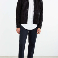 Your Neighbors Suede Moto Trucker Jacket - Urban Outfitters