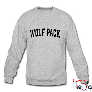 Wolf Pack-block crewneck sweatshirt
