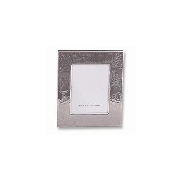Silver-plated Birth Record 3.5x5 Photo Frame