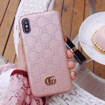 GUCCI Fashion iPhone Samsung Phone Cover Case For iphone 6 6s 6plus 6s-plus 7 7plus iPhone8 iPhone X