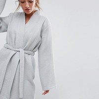 ASOS Waffle Hotel Robe In 100% Cotton at asos.com