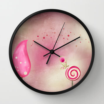 Happy Thoughts Wall Clock by Texnotropio