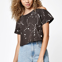 LA Hearts Vibes Cold Shoulder Cropped T-Shirt at PacSun.com