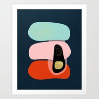 Modern minimal forms 41 Art Print by naturalcolors