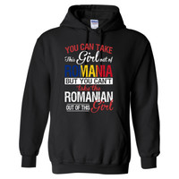 You Can Take The Girl Out Of Romania But You Cannot Take The Romanian Out Of This Girl - Heavy Blend™ Hooded Sweatshirt