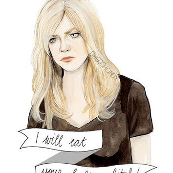 Sweet Dee watercolor portrait illustration PRINT Dee Reynolds Kaitlin Olson It's Always Sunny in Philadelphia