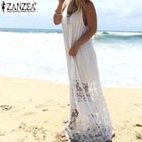 Women's Summer Dresses Loose Long Maxi Solid Dress  Plus Size