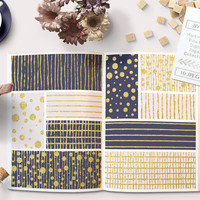 Gold Foil Digital Paper. Navy Blue and a Soft Pink backgrounds pack. Textured gold foil for graphic design, scrapbooking, scrapbook paper.