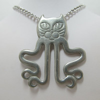 REED & BARTON Cat/Octopus Necklace