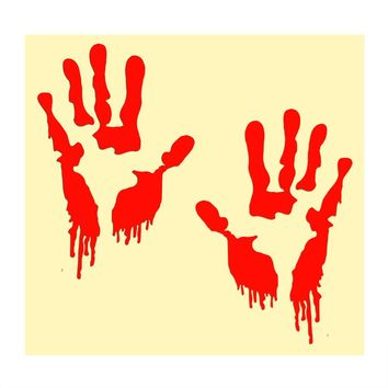 Zombie Bloody Hands Auto Motorcycle Sticker Funny Car Stickers and Decals Car-styling Red Car Window Decor