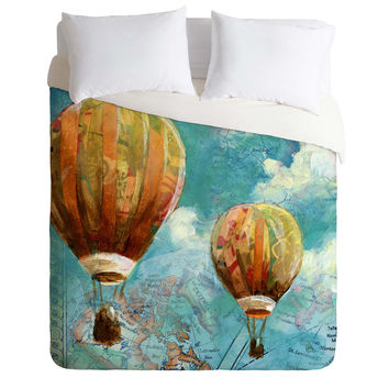 Land Of Lulu Two Balloons Duvet Cover
