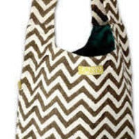 Chocolate Chevron Hippy Bag