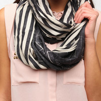 Urban Outfitters - Deena & Ozzy Interrupted Stripe Eternity Scarf