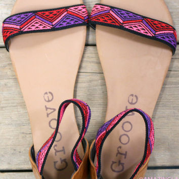 Electric Slide Purple Tribal Sandals