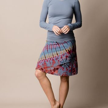 Tie-Dye Knee Length Skirt