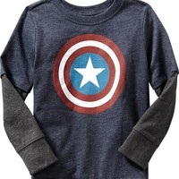Old Navy Marvel Comics Captain America Tee For Baby