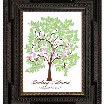 WEDDING SIGNATURE TREE guest book, spring fingerprint tree guest book, summer tree, Thumbprint guestbook, Wedding Tree, 16x20 num.120
