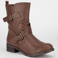 Soda Mayport Womens Boots Tan  In Sizes