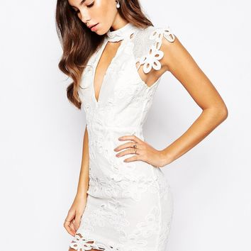 Love Triangle High Neck Lace Dress